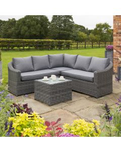 Rowlinson Bunbury Rattan Corner Set In Grey