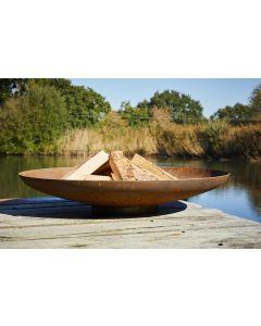 Corten Steel Fire Bowl 80cm