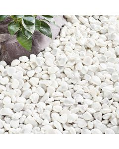 Kelkay Coral White Pebbles Decorative Aggregate, Bulk Bag
