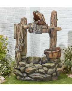 Kelkay Country Well Water Feature with LEDs
