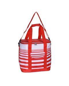 Cooler Bag 24 Litre Stripe Red