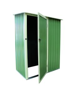 Small Green 4.7ft x 3ft Metal Storage Shed Chest with Roof Door Apex