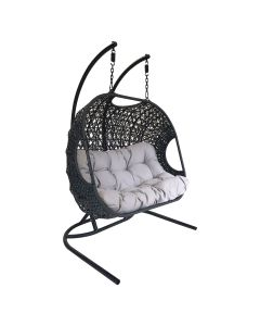 Double Rattan Hanging Swing Chair