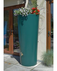 380 Litre Garden Planter Water Butt Green with Tap Kit & Diverter