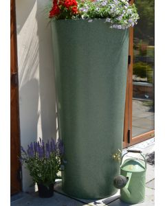 380 Litre Garden Planter Water Butt Green Marble with Tap Kit & Diverter