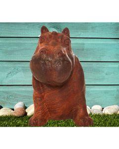 Happy Hippo Cast Iron Statue