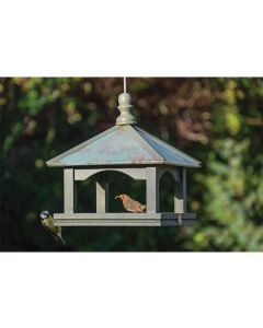 National Trust Classic Hanging Copper Roofed Bird Table Feeder