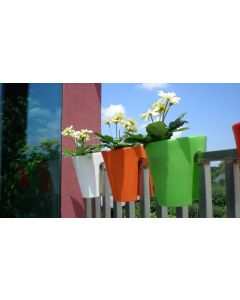 Roto Balconee Easy To Hang Balcony Planter 30cm - Green