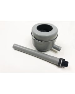 Downpipe Filter with Sieve - Grey