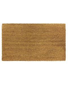 Plain Natural Latex Coir Doormat 40 x 60cm