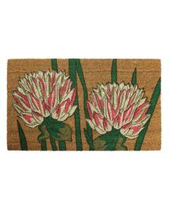 Chrysanthemum Latex Coir Doormat 45 x 75cm