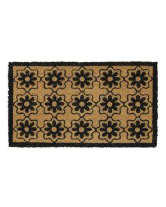 Flower Latex Coir Doormat 40 x 70cm