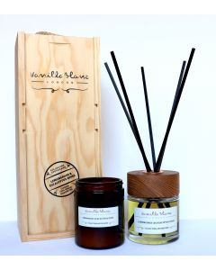 Vanilla Blanc Apothicaire Collection 120ml Candle & 100ml Diffuser Gift Set - Lemongrass & Eucalyptus Dives