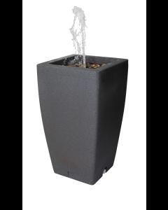 185L Madison Rain Barrel with Fountain - Millstone