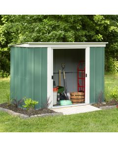 Rowlinson 8' x 4' Greenvale Metal Pent Shed With Floor