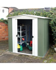 Rowlinson 8' x 6' Greenvale Metal Apex Shed With Floor