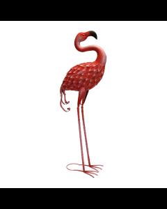 Metal Forward Facing Flamingo Ornament
