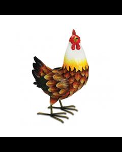 Metal Farmyard Hen Ornament