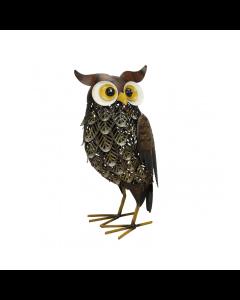 Metal Brown Woodlands Owl Ornament