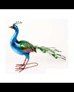 Metal Vibrant Peacock Ornament