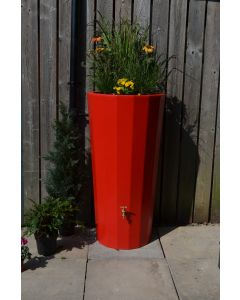 255L Metropolitan Water Butt with Planter in Red
