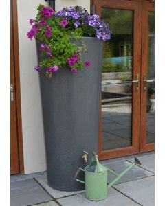 380 Litre Garden Planter Water Butt Millstone Grit with Tap Kit & Diverter