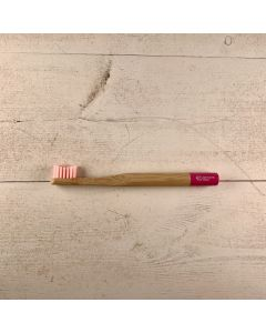 Biodegradable Bamboo Toothbrush - Kids - Pantai Serah Pink