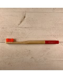Biodegradable Bamboo Toothbrush - Adult - Sumatra Sunset Red