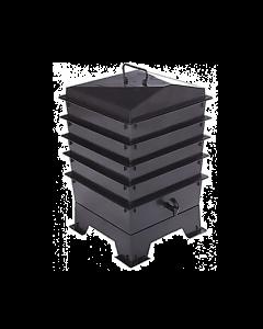 4 Tray Standard Tiger Wormery Black