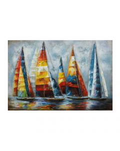 A Serien Sail 3D Metal Art on Metal Canvas