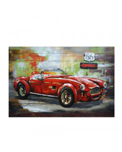 American Power 3D Metal Art on Wood Canvas