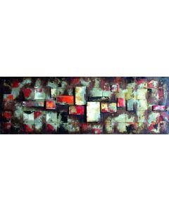 Steel City Blocks - 3D Metal Wall Art