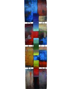 Mondrian Colour Panels - Metal Wall Decor