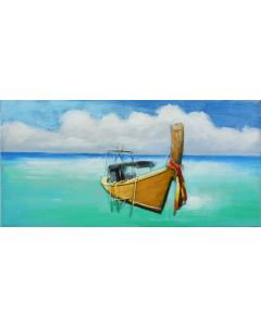 Lonely Boat - Metal Wall Art