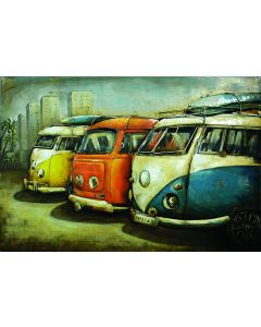 Camper Vans - Metal Wall Art