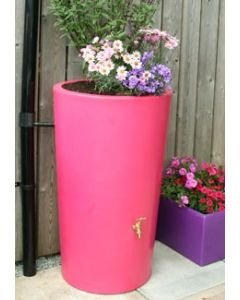 180L Garden Planter Water Butt Pink