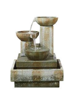 Kelkay Patina Bowls Water Feature - Natural Stone Effect