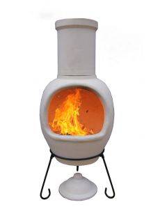Asteria Extra-large Clay Chimenea made of Chimalin AFC