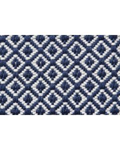 IN-OUT Textiles Recycled Diamond Dark Blue Rug - 120cm