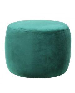 Green Round Footstool