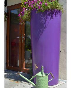 380 Litre Garden Planter Water Butt Purple with Tap Kit & Diverter
