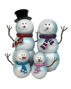 Snowman Family Carol Singers (Frost Proof Polyresin)