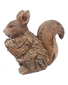 Wood Effect Squirrel (Made From Frost Proof Polyresin)
