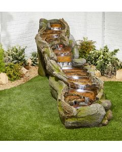 Kelkay Rapid Waters Water Feature With LEDs