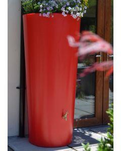 380 Litre Garden Planter Water Butt Red with Tap Kit & Diverter