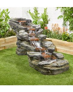 Kelkay Rocky Creek Water Feature With LEDs