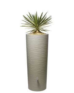 350L Natura 2 in 1 Water Tank with Planter - Sahara Beige