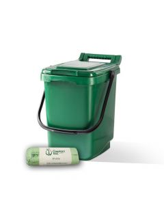 23ltr Green Kitchen Caddy + 25 Pack of Liners