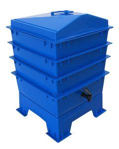 3 Tray Standard Tiger Rainbow Wormery Dark Cobalt Blue
