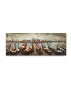 Venice Gondolas - Metal Wall Art